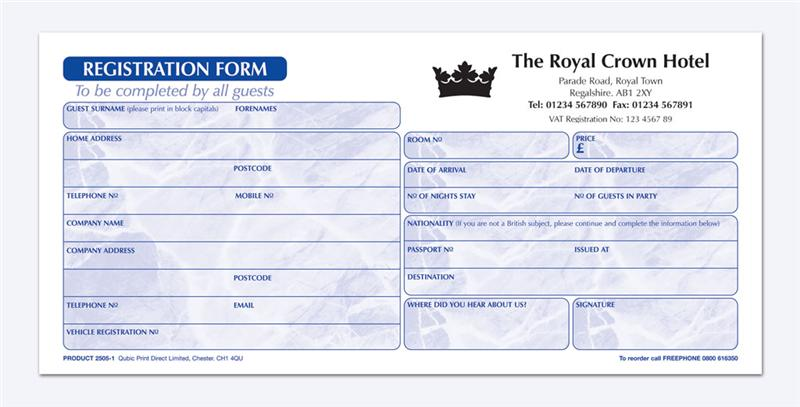 Hotel registration form template acurnamedia hotel registration form template altavistaventures Images